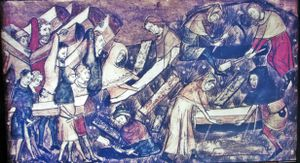 how did the black death affect the catholic church
